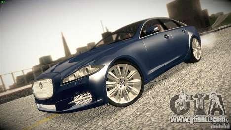 Jaguar XJ 2010 V1.0 for GTA San Andreas inner view