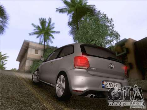 Volkswagen Polo GTI 2011 for GTA San Andreas back view