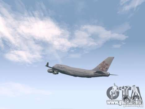 Boeing 747-400 China Airlines for GTA San Andreas right view