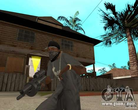 Shotgun in style revolver for GTA San Andreas third screenshot