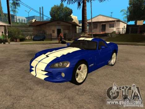 Dodge Viper Coupe 2008 for GTA San Andreas inner view