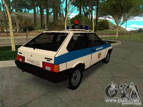 VAZ 2108 Police for GTA San Andreas back left view