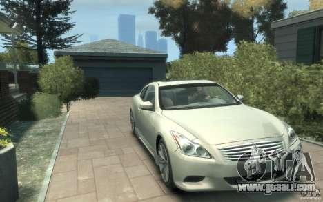 Infiniti G37 S for GTA 4 back view