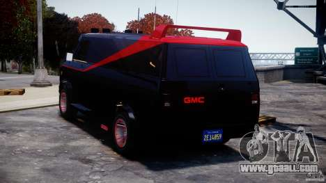GMC Van G-15 1983 The A-Team for GTA 4 back left view