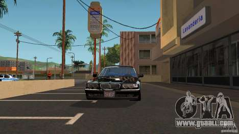BMW E38 750LI for GTA San Andreas back view