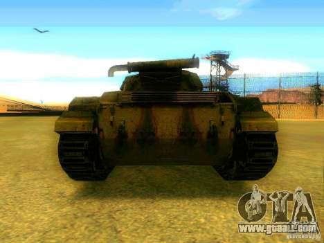 Tank game S. T. A. L. k. e. R for GTA San Andreas back left view