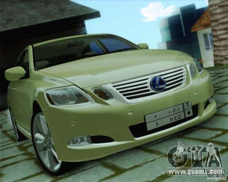 Lexus GS450h 2011 for GTA San Andreas back left view