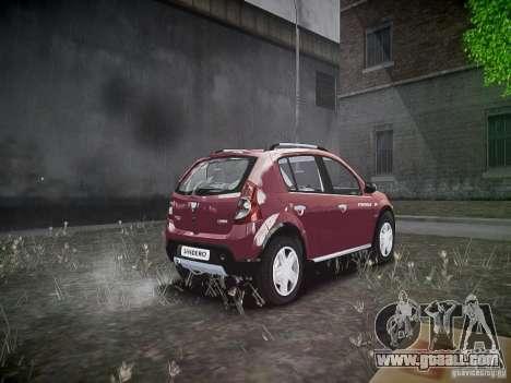 Dacia Sandero Stepway for GTA 4 back view