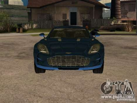 Aston Martin One77 for GTA San Andreas back left view