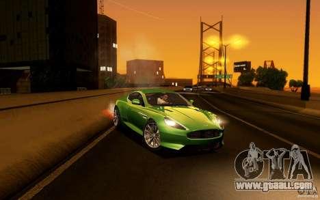 Aston Martin Virage V1.0 for GTA San Andreas side view