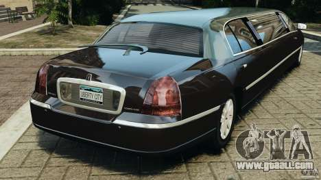 Lincoln Town Car Limousine 2006 for GTA 4 back left view