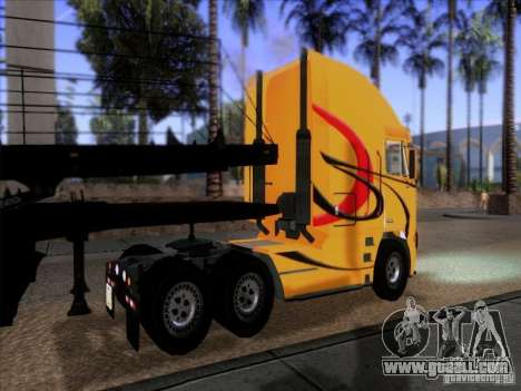 Freightliner Argosy Skin 2 for GTA San Andreas back left view
