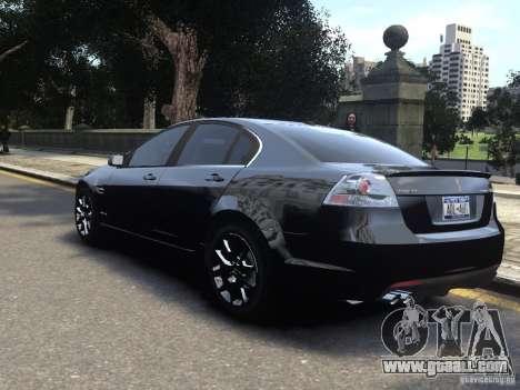 Pontiac G8 GXP for GTA 4 left view
