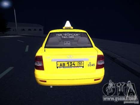 LADA 2170 Priora Taxi TMK Afterburner for GTA San Andreas side view
