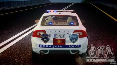 Volvo S60 Macedonian Police [ELS] for GTA 4 interior