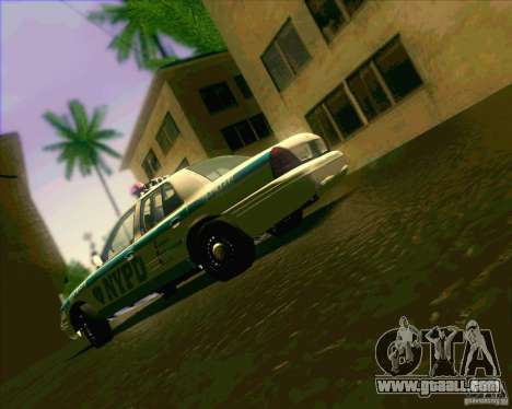 Ford Crown Victoria 2003 NYPD police V2.0 for GTA San Andreas inner view