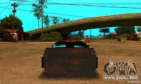 Ford Mustang Shelby GT500 From Death Race Script for GTA San Andreas back left view