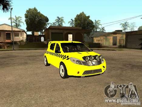 Dacia Sandero Speed Taxi for GTA San Andreas back view
