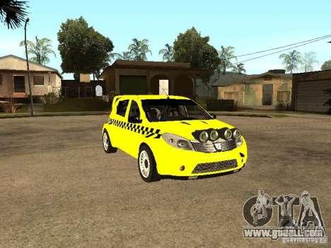 Dacia Sandero Speed Taxi for GTA San Andreas back view
