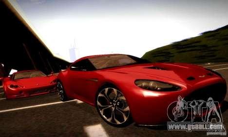 Aston Martin V12 Zagato Final for GTA San Andreas back view