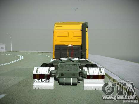 Mercedes-Benz Actros Rosneft for GTA San Andreas back view