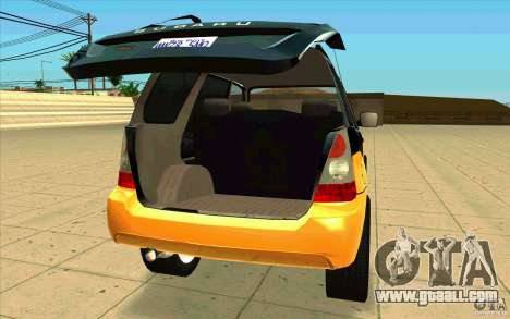 Subaru Forester Cross Sport 2005 for GTA San Andreas back view