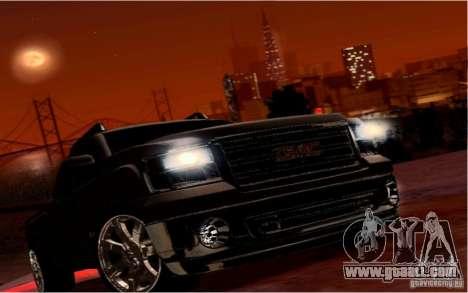 GMC Sierra 2011 for GTA San Andreas upper view