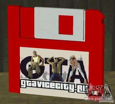 New HD floppy disk save for GTA San Andreas third screenshot