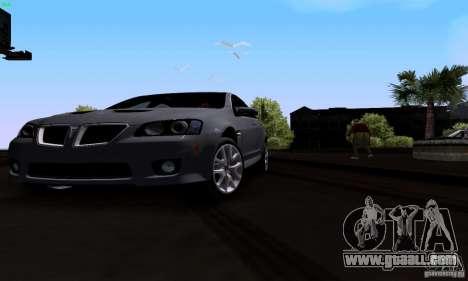 Pontiac G8 GXP for GTA San Andreas inner view