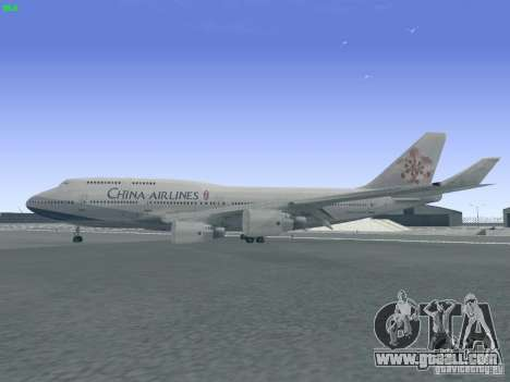 Boeing 747-400 China Airlines for GTA San Andreas left view