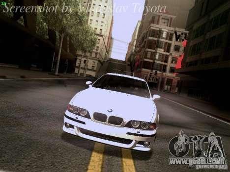 BMW E39 M5 2004 for GTA San Andreas engine