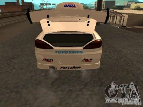 Nissan s15 Performa Drift for GTA San Andreas back view
