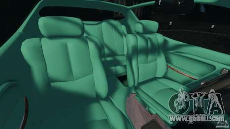 Daewoo Bucrane Concept 1995 for GTA 4 inner view