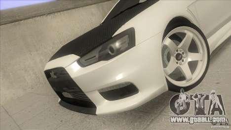 Mitsubishi Lancer Evo IX DIM for GTA San Andreas side view