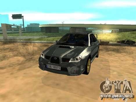 Subaru Impreza WRX STI for GTA San Andreas inner view