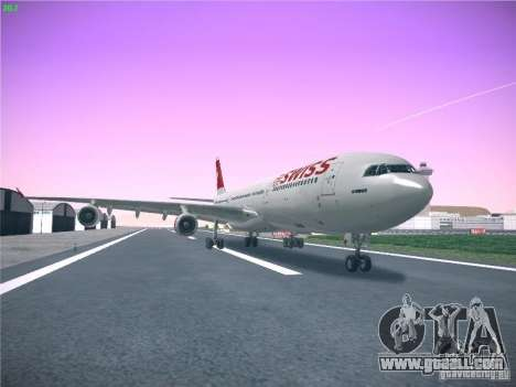 Airbus A340-300 Swiss International Airlines for GTA San Andreas back left view