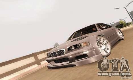 BMW M3 GTR for GTA San Andreas