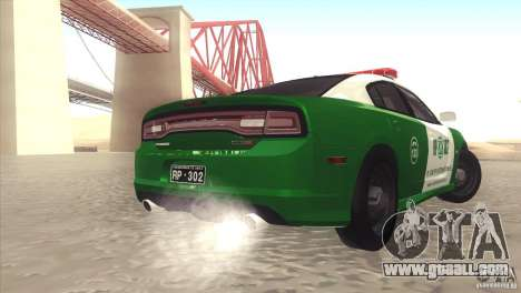 Dodge Charger SRT8 Carabineros for GTA San Andreas back left view
