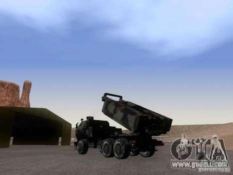 M142 HIMARS Artillery for GTA San Andreas left view