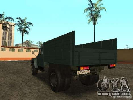 ZIL 130 double cabin for GTA San Andreas back left view
