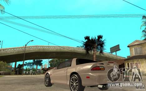 Chevrolet Camaro SS 2002 for GTA San Andreas back left view