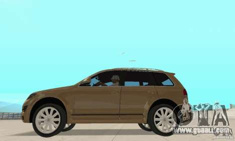 Volkswagen Touareg 2008 for GTA San Andreas back left view