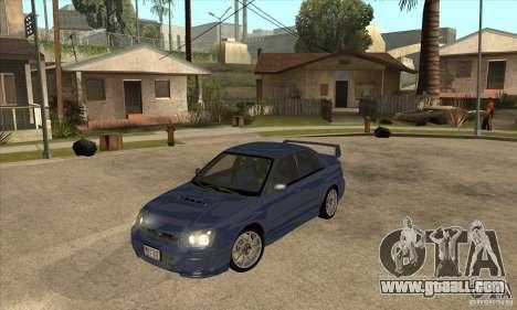 Subaru Impreza WRX STi - Stock for GTA San Andreas