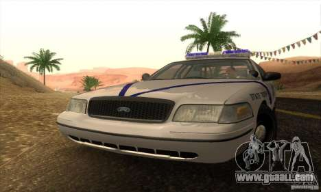 Ford Crown Victoria Arkansas Police for GTA San Andreas back left view