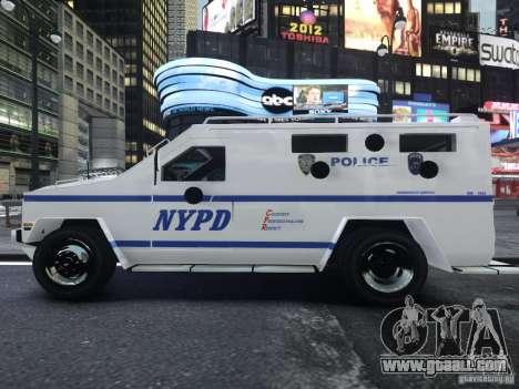 Lenco Bearcat NYPD ESU V.2 for GTA 4 right view