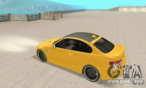 BMW M3 2008 Hamann v1.2 for GTA San Andreas side view