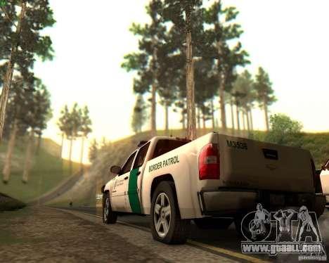 Chevrolet Silverado Police for GTA San Andreas engine