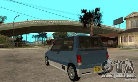 Suzuki Alto Works for GTA San Andreas back left view