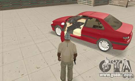 Peugeot 406 stock for GTA San Andreas inner view