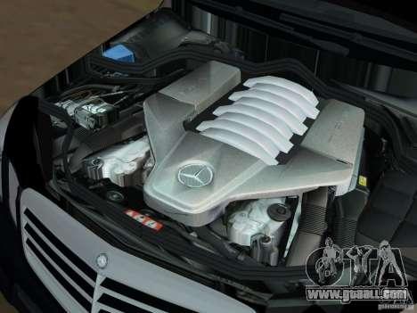 Mercedes-Benz E63 AMG for GTA Vice City bottom view